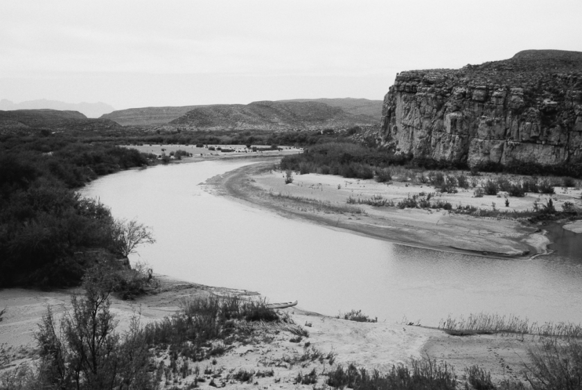 The Rio Grande River, looking from Mexico into Texas